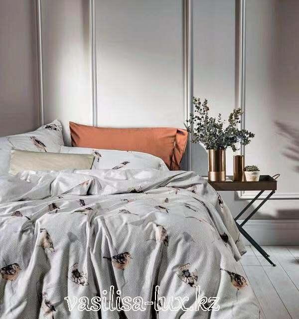 Постельное бельё сатин люкс Египетский хлопок Art-1812-11 двуспальный евро