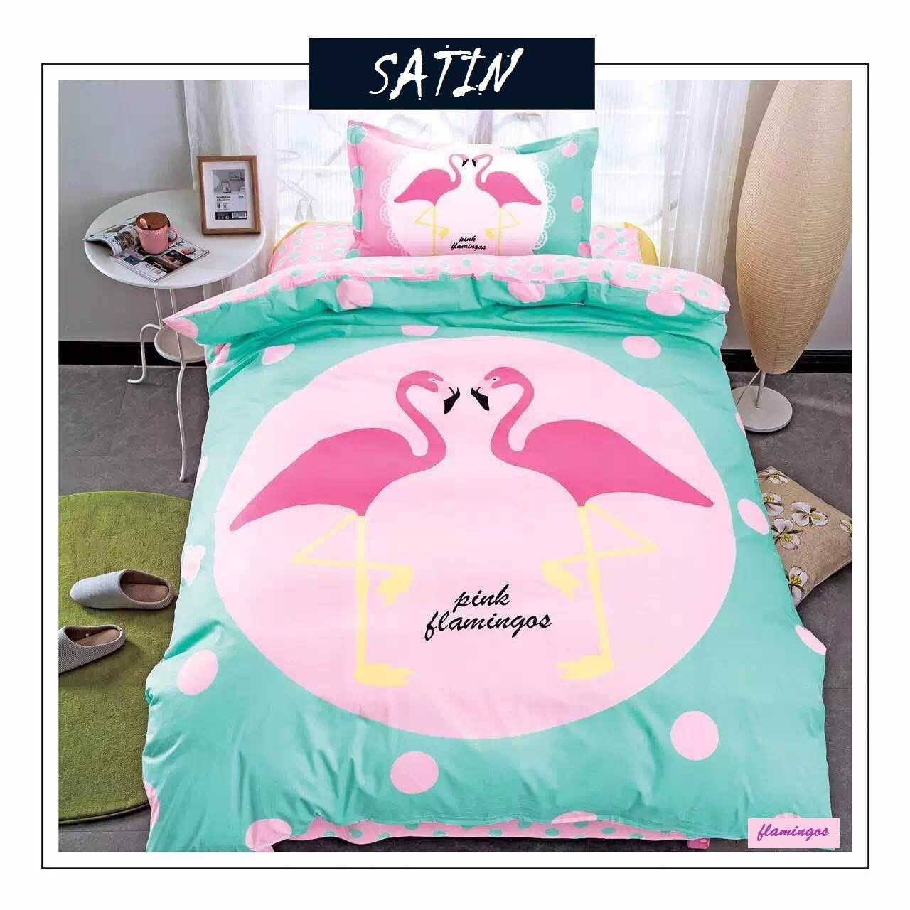 """Постельное бельё для детей сатин """"Pink flamingos"""" полуторный"""
