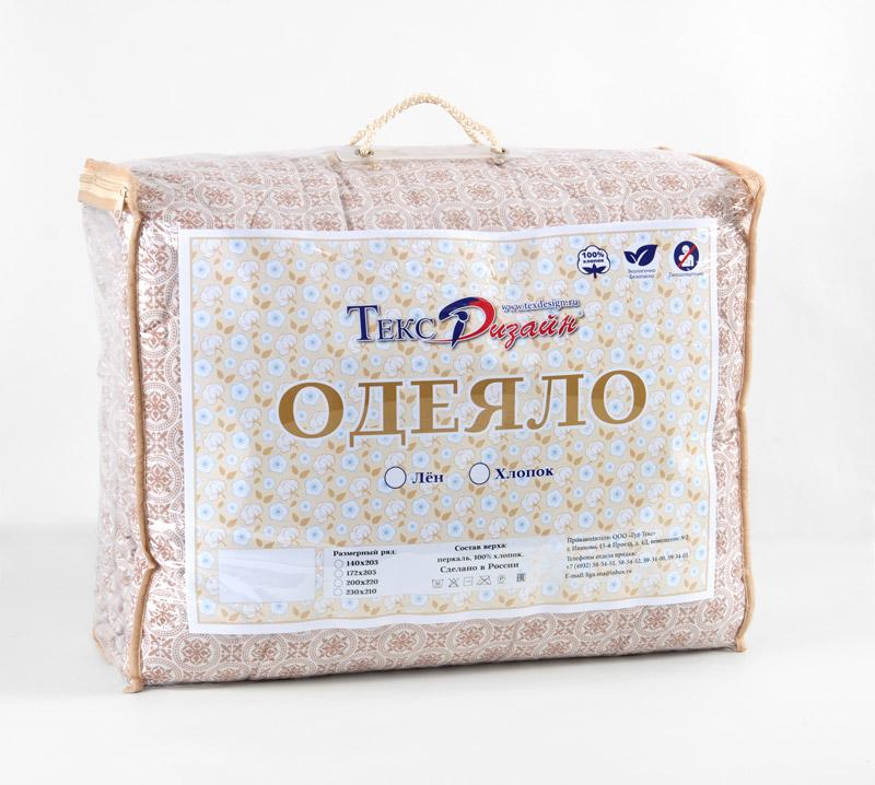 "Одеяло 2 сп. евро 200х200 ТМ Текс-Дизайн ""Хлопок-лён"" Летнее"